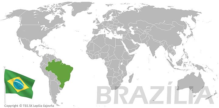 Brazília na mape sveta TEE.SK