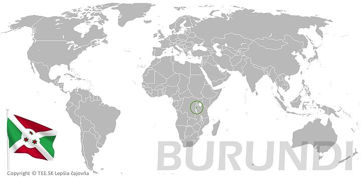 Burundi na mape sveta TEE.SK