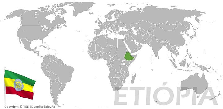 Etiópia na mape sveta TEE.SK