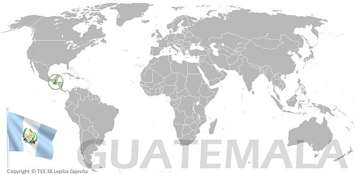 Guatemala na mape sveta TEE.SK
