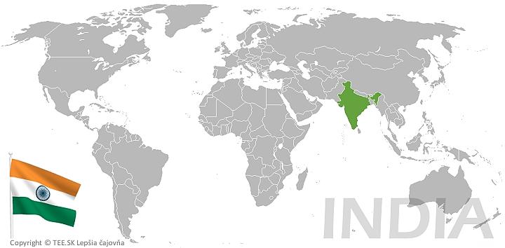 India na mape sveta TEE.SK