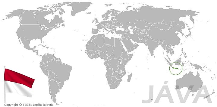Jáva na mape sveta TEE.SK