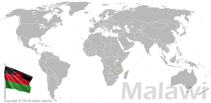 Malawi na mape sveta TEE.SK