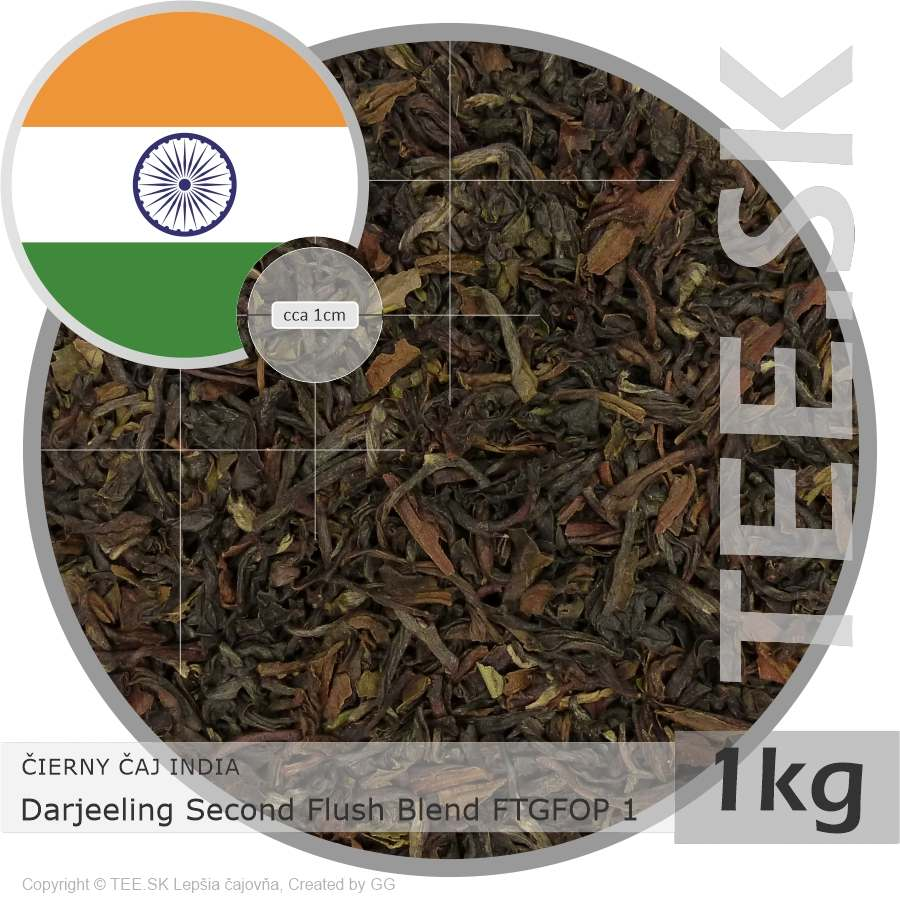 ČIERNY ČAJ INDIA – Darjeeling Second Flush Blend FTGFOP 1 (1kg)