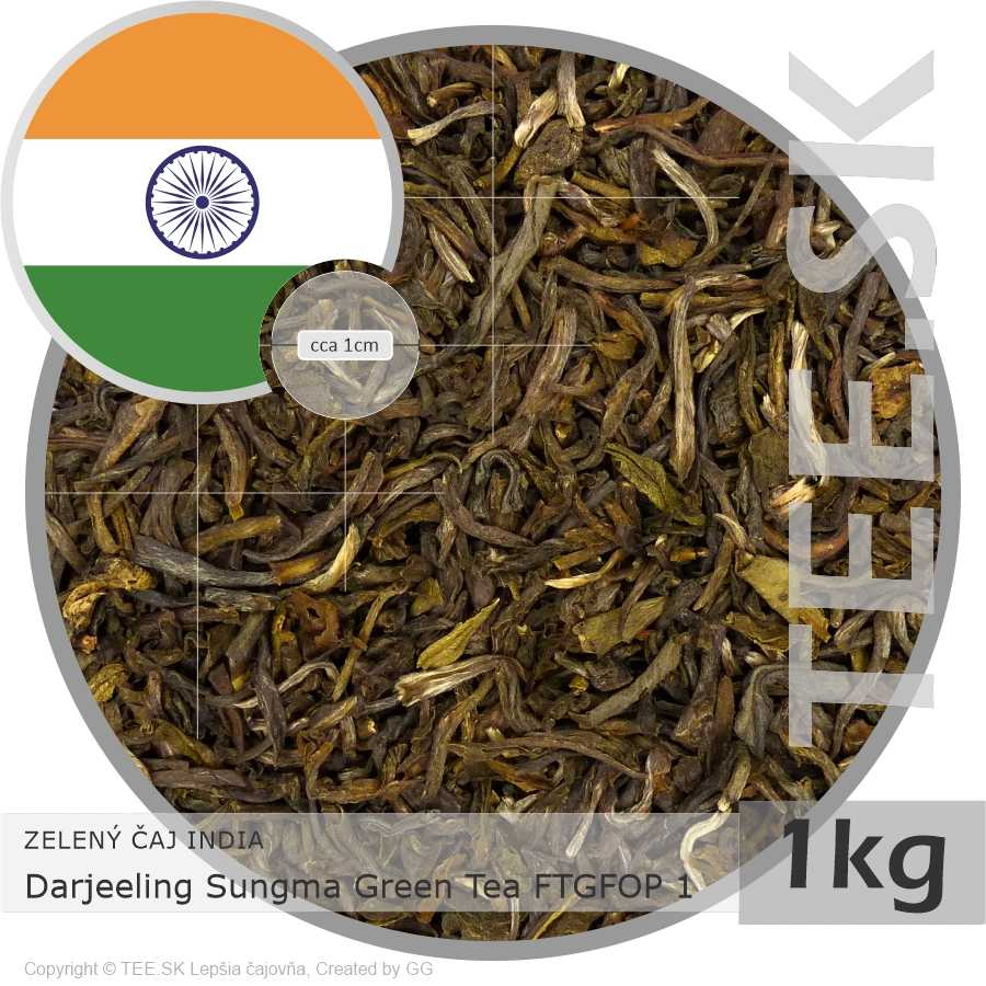 ZELENÝ ČAJ INDIA – Darjeeling Sungma Green Tea FTGFOP 1 (1kg)
