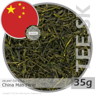 ZELENÝ ČAJ ČÍNA – China Mao Feng (35g) NEW!