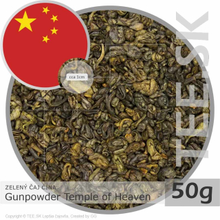 ZELENÝ ČAJ ČÍNA – Gunpowder Temple of Heaven (50g)